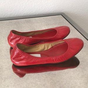 🆕 Lanvin Paris Leather Red Ballet Flats 35.5